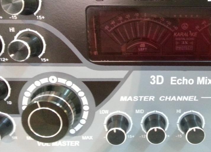 Điều chỉnh nút tổng là việc làm không thể quên khi điều chỉnh dàn karaoke